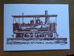 """Chemin De Fer Luxembourgeois / Luxembourg - Remich, Locomotive No 2 """"Remich"""" -> Ne Pas écrit (carte S'ouvre) - Remich"""