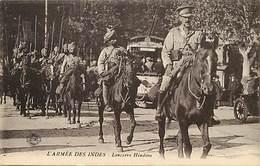 Themes Div-ref BB193- Guerre 1914-18- Inde - Armée Indienne -indian Army - Hindou -lanciers Hindous - - Guerre 1914-18