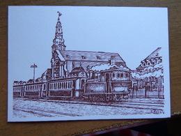 Chemin De Fer Luxembourgeois / Luxembourg - Remich, Train Au Départ De La Place De La Gare -> Ne Pas écrit - Remich