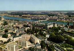 CPSM Grand Format BLOIS  Le Chateau Et La Loire Vue Aérienne Pilote OperateurR Henrard Colorisée RV  Edit Cigogne - Blois
