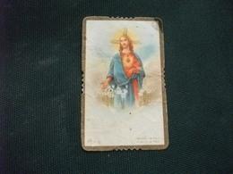 SANTINO HOLY PICTURE IMAGE SAINTE  SACRO CUORE DI GESU' E 22 PIEGHE SCIUPATO - Religione & Esoterismo