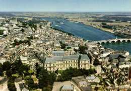 CPSM Grand Format BLOIS  Le Chateau Et La Loire Vue Aérienne Pilote OperateurR Henrard Colorisée 2 RV  Edit Cigogne - Blois