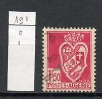 Algérie - Algerien - Algeria 1942-45 Y&T N°191 - Michel N°187 (o) - 1,50f Blason D'Alger - Algérie (1924-1962)