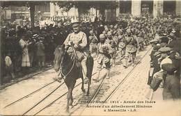Themes Div-ref BB184- Guerre 1914-18- Inde - Armée Indienne -indian Army - Hindou - Hindous -armee Des Indes -marseille- - Guerre 1914-18