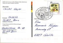 "BRD (Eigenausg. Der DP AG) ""Postfach-Mitteilungskarte PFK 9"" WSt Leonhard Fuchs 100(Pf), SSt 30.6.2002 BONN - [7] Repubblica Federale"