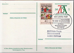 Germany Used Postal Stationery Card, Dürer Year Posted By Coach On 19.8.90. - [7] Federal Republic