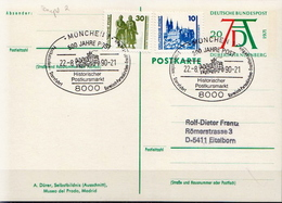Germany Used Postal Stationery Card, Dürer Year Posted By Coach On 22.8.90. - [7] Federal Republic