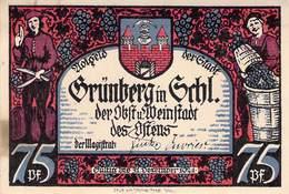 75 Pfg. Notgeld Grünberg I/ Schl.UNC (I) - Lokale Ausgaben