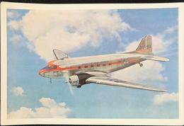 2 Cards Danish Airlines / Dc3 Sven Viking - Tor Viking 19?? - 1946-....: Era Moderna