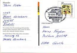 "BRD (Eigenausg. Der DP AG) ""Postfach-Mitteilungskarte PFK 10"" WSt Leonhard Fuchs 100(Pf), SSt 30.6.2002 BAD GRIESBACH - [7] Repubblica Federale"