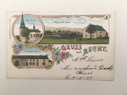GRUSS AUS RECHT - HOTEL MEYER-GENNES - LITHO 1899 - Saint-Vith - Sankt Vith