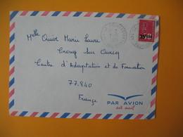 Lettre De La Réunion CFA  1973  N° 393  Marianne De Béquet De La Possession Pour La France - Reunion Island (1852-1975)