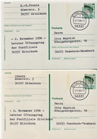 Germany 2 Used Postal Stationery Cards, Etelborn Post Office's Close And Reopen - [7] Federal Republic