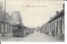 Meerle - MEERSEL - Dorpstraat Noord - TRAM à Vapeur - Préaux - Ph: Meuleman-Rethy - Circulé: 1924 - 2 Scans - Hoogstraten