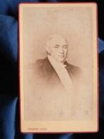 Photo CDV Ch. Herbert à Beauvais - Portrait De Etienne Portier Décédé En 1854 L448 - Anciennes (Av. 1900)