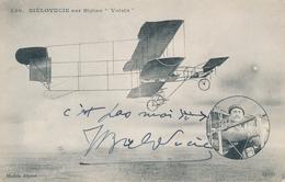 "BIELOVUCIC CP Neuve Sur Biplan "" Voisin"" Avec Signature Autographe - Aviatori"