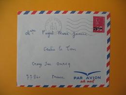 Lettre De La Réunion CFA  1973  N° 393  Marianne De Béquet De La Rivière  Pour La France - Reunion Island (1852-1975)