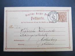 GANZSACHE Bautzen- Gottesberg 1875 Korrespondenzkarte  /// D*38781 - Deutschland
