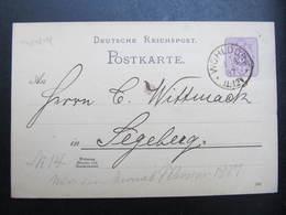 GANZSACHE Wohldorf - Segeberg 1887 Korrespondenzkarte  /// D*38783 - Briefe U. Dokumente