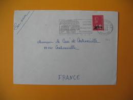 Lettre De La Réunion CFA  1973  N° 393  Marianne De Béquet De Saint Denis Pour La France EM Océan Indien Floralies - Reunion Island (1852-1975)
