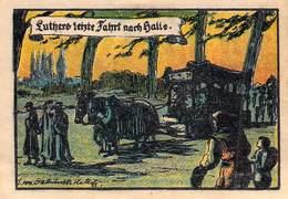 50 Pfg. Notgeld Halle A. S. AU/EF (II) - Lokale Ausgaben