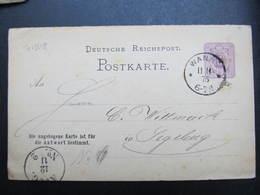 GANZSACHE Wanne - Segeberg 1876 Korrespondenzkarte Kohlenbergwerk Unser Fritz  /// D*38784 - Briefe U. Dokumente