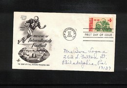 USA 1969 Rugby FDC - Rugby