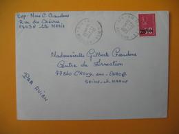 Lettre De La Réunion CFA  1973  N° 393  Marianne De Béquet De Sainte Marie  Pour La France - Reunion Island (1852-1975)