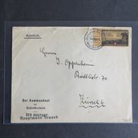 Militaria Schweiz Feldpost Brief Soldatenmarke Schießschule Wallenstadt V. Rand - Schweiz