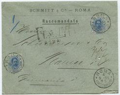1895 Italien → R Brief Rom Nach Plauen - Gebraucht