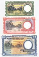 British West Africa 4 Note Set 1953 COPY - Nigeria