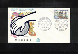 France 1968 Olympic Games Mexico FDC - Sommer 1968: Mexico