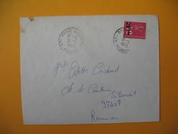 Lettre De La Réunion CFA  1973  N° 393  Marianne De Béquet De Ravine Les Cabris Pour Saint Benoit - Reunion Island (1852-1975)