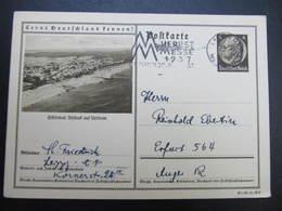 """GANZSACHE """"Ahlbeck"""" Leipzig - Erfurt 1937 Lernt Deutschland Kennen /// D*38786 - Briefe U. Dokumente"""