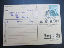 KARTE Bahnpost Zugstempel Zvolen - Brezno Nad Hronom 1933 Slovenska Lupca  /// D*38787 - Briefe U. Dokumente