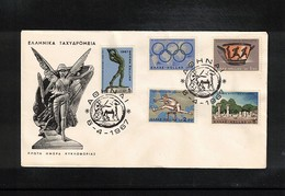 Greece 1967 Olympic Games FDC - Olympische Spiele