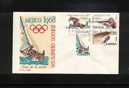 Spain 1968 Olympic Games Mexico FDC - Sommer 1968: Mexico