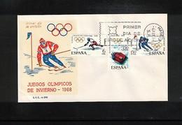 Spain 1968 Olympic Games Grenoble FDC - Winter 1968: Grenoble