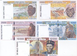 Burkina Faso 5 Note Set 1991 COPY - Burkina Faso
