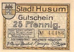 25 Pfg. Notgeld Husum UNC (I) - Lokale Ausgaben