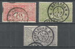 Netherlands 1906 Year, Used , Set, Mi.# 69-71 - Period 1891-1948 (Wilhelmina)