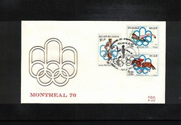 Belgium 1976 Olympic Games Montreal FDC - Sommer 1976: Montreal