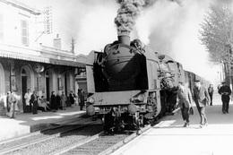 Issoire. Locomotive 141 F 199. Cliché Jacques Bazin. 30-04-1958 - Trains