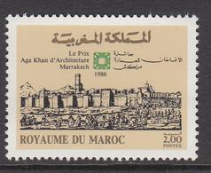 1986 Morocco Maroc Aga Khan Architecture Marrakesh  Complete Set Of 1 MNH - Marruecos (1956-...)