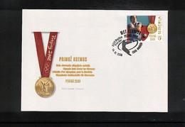 Slowenien / Slovenia 2008 Olympic Games Beijing - Golden Medal Primoz Kozmus FDC - Sommer 2008: Peking