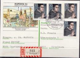 Germany Registered Postal Stationery Card, Naposta '81 - Philatelic Exhibitions