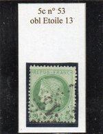 Paris - N° 53 Obl étoile 13 - 1871-1875 Cérès