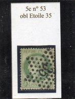 Paris - N° 53 Obl étoile 35 - 1871-1875 Cérès