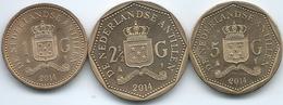 Netherlands Antilles - Willem Alexander - 2014 - 1,2½ & 5 Gulden (KMs 91-93) - Netherland Antilles