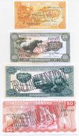 Burundi 7 Note Set 1960 COPY - Burundi